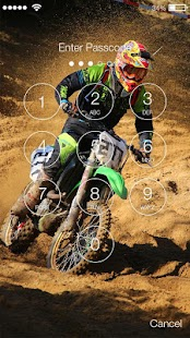 Racing Motocross Lock Screen - náhled