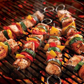 Italian Pork Kabobs with Summer Vegetables.