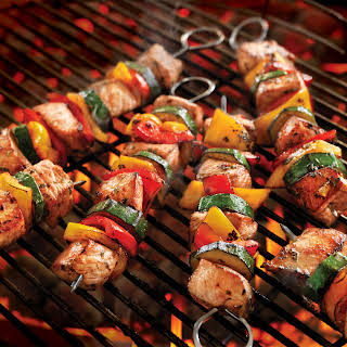 Italian Pork Kabobs with Summer Vegetables.