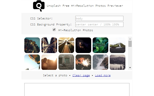 Unsplash Free Hi-Resolution Photos Previewer