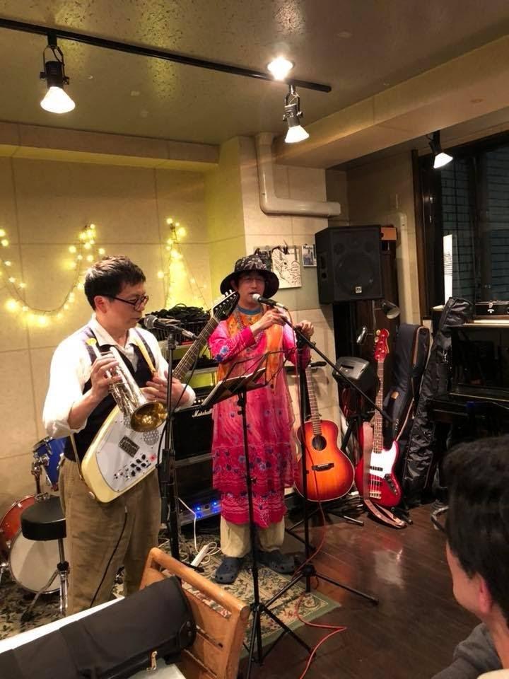 東條平八郎さんとの突発デュオ。(02/09@西荻ジジアナベル、ラスト枠)