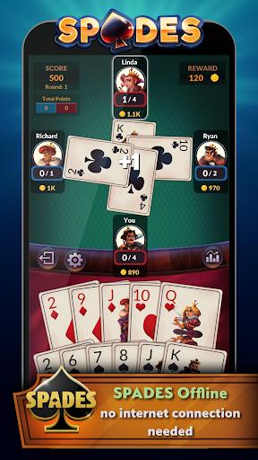 Spades - Offline Free Card Games modavailable screenshots 1