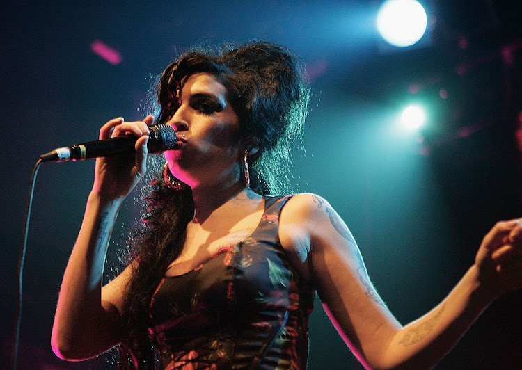 The late Amy Winehouse.