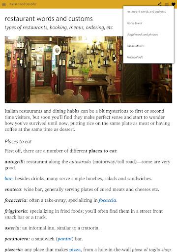 Italian Food Decoder screenshot 15