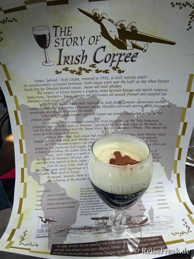 Irish Coffee im Foynes Flying Boat & Maritime Museum