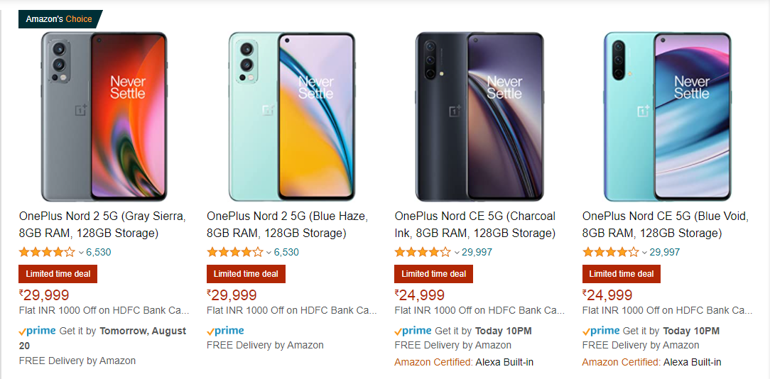 mobile phone product titles on amazon