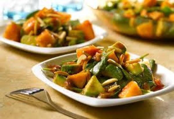 Avocado Melon Salad W/ Picante Honey Dressing Recipe