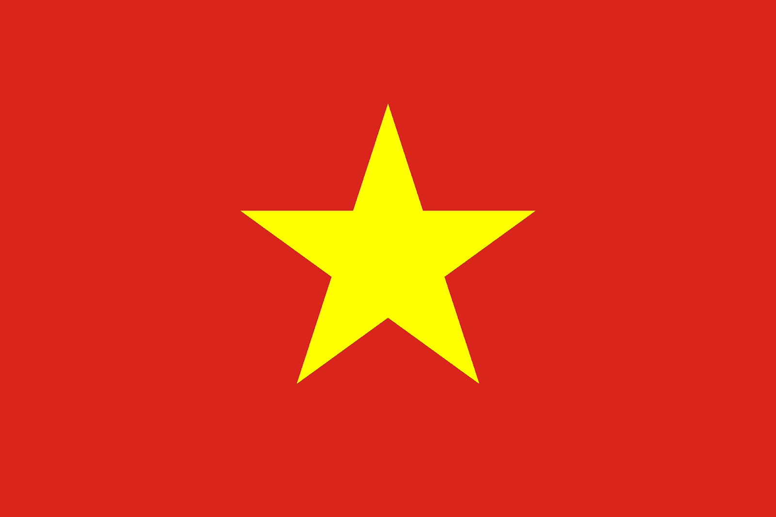 The red flag yellow star