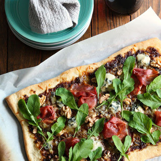 Balsamic Fig Pizza w/ Blue Cheese and Prosciutto