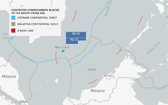 Trung Quốc gây ra nguy cơ bùng cháy tài nguyên khí đốt của Malaysia và Việt Nam