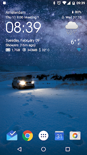 Transparent clock & weather Screenshot 2