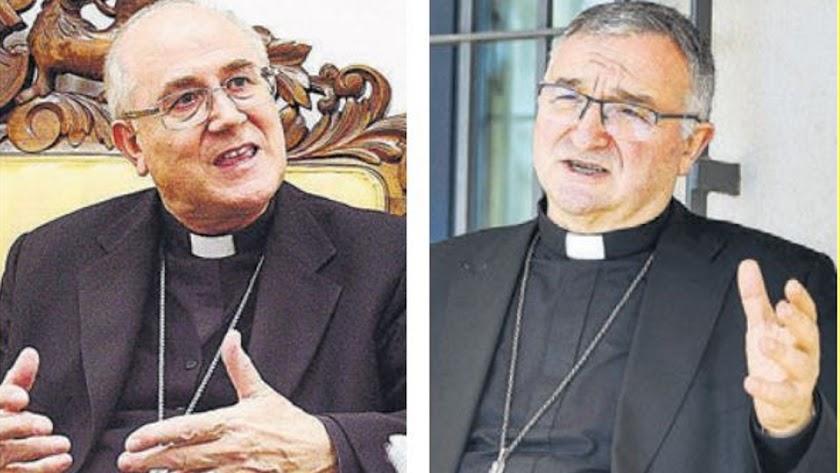Don Adolfo González Montes y don Antonio Gómez Cantero.