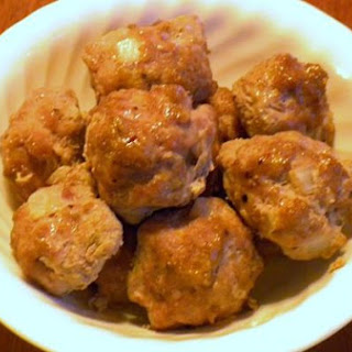 Gingery Pork Meatballs In Gravy