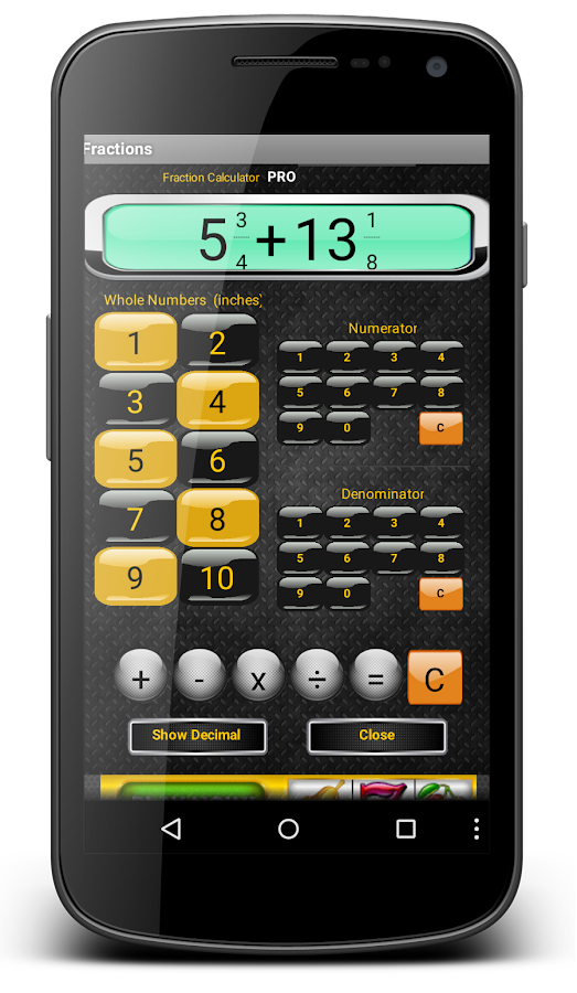 Fractions calculator free android apps on google play fractions calculator free screenshot ccuart Gallery
