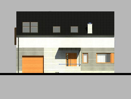 LIM House 01 - Elewacja przednia