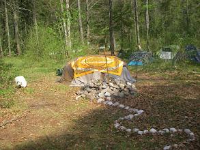 Photo: Die eingedeckte Schwitzhütte