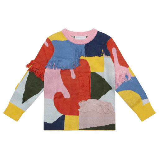 Primary image of Stella McCartney Multi-Coloured Fringed Jumper