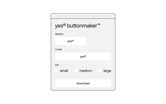 yes® Button Maker