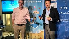 García y Carmona presentaron la app en Diputación. F.C.