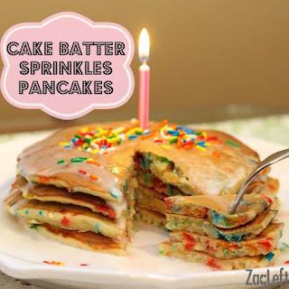 Cake Batter Sprinkles Pancakes Recipe