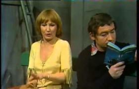 """velyne Grandjean et Pierre Desproges à l'époque de """"Qu'elle était verte ma salade"""", Café-Théâtre """"Les 400 coups"""", 1977"""