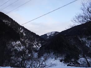 林道を谷の奥へ