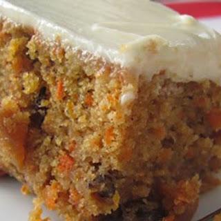 Eggless Carrot Cake.