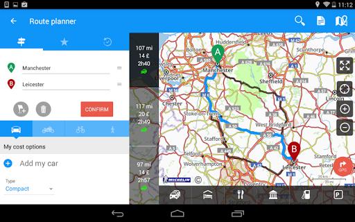 ViaMichelin Route planner,maps screenshot 15