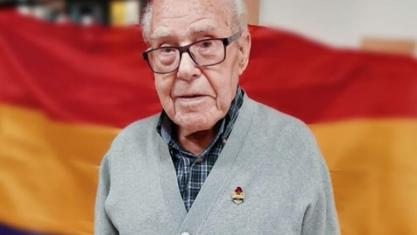 Nicolás López fue republicano de corazón hasta el fin de sus días (Foto: Inma Martínez).