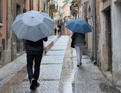 anche se piove......