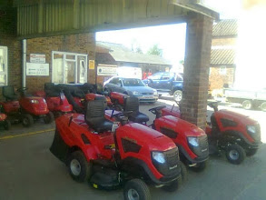 Photo: Anymore Riders?...  Lines of mowers lined up like Dodgem cars, and almost as much fun.