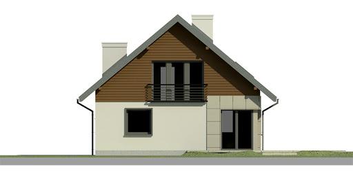 Dom przy Cyprysowej 2 - Elewacja tylna