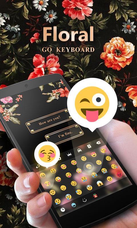 Screenshots of Floral GO Keyboard Theme Emoji for iPhone