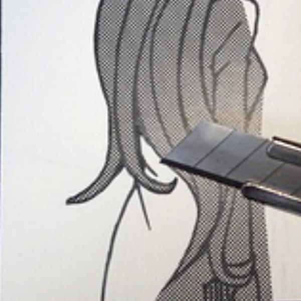 スクリーントーン:髪の毛