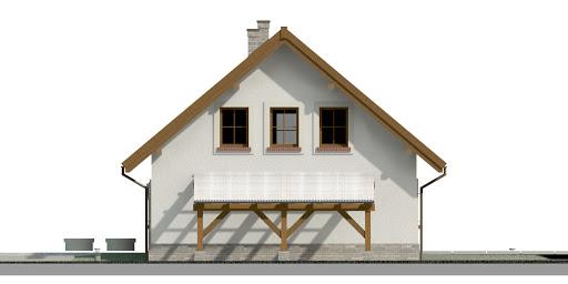 Dom przy Cyprysowej 20 P - Elewacja prawa