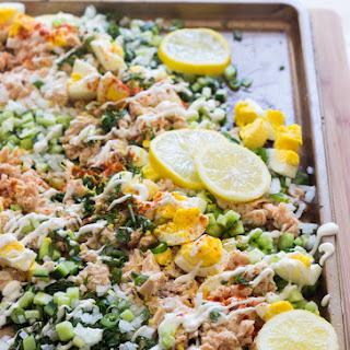 Salmon and Egg Salad.