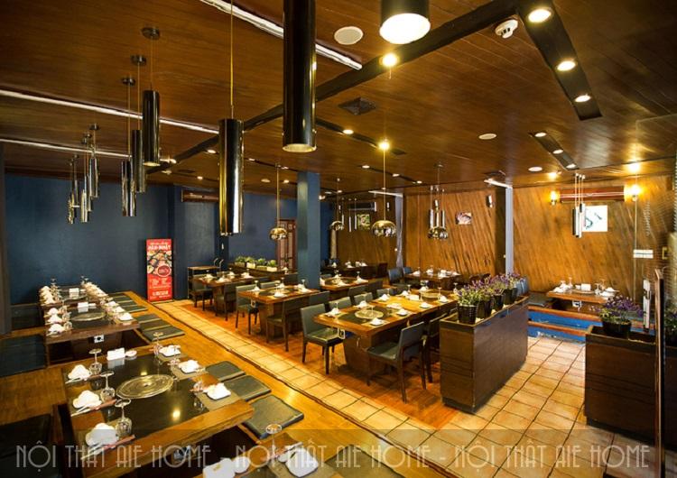 Thiết kế nội thất nhà hàng lẩu nướng Sochu