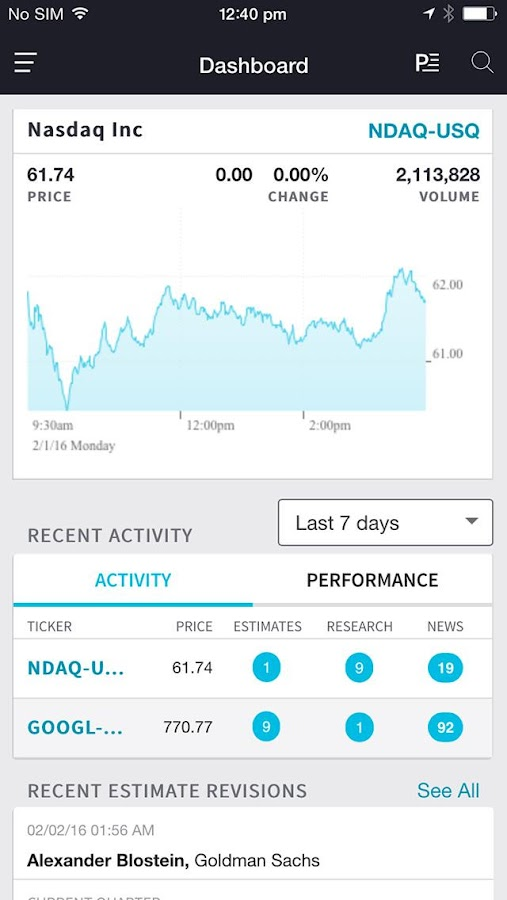 Nasdaq IR Insight- screenshot