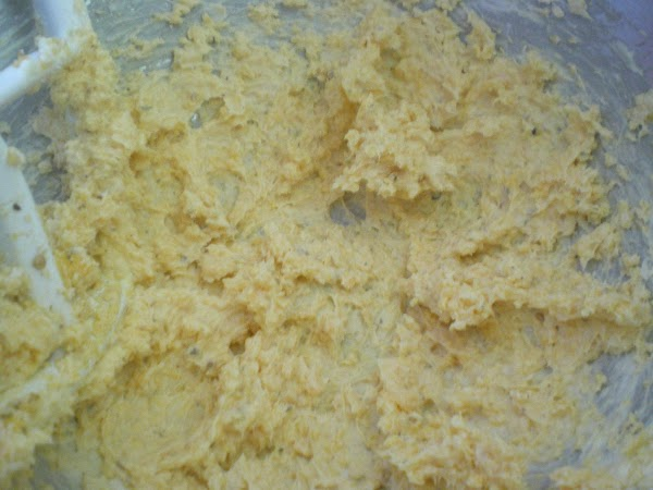 In your mixer combine cream cheese, cheddar, mayo, and spices.