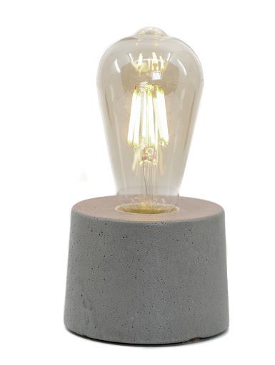 Lampe cylindre béton gris