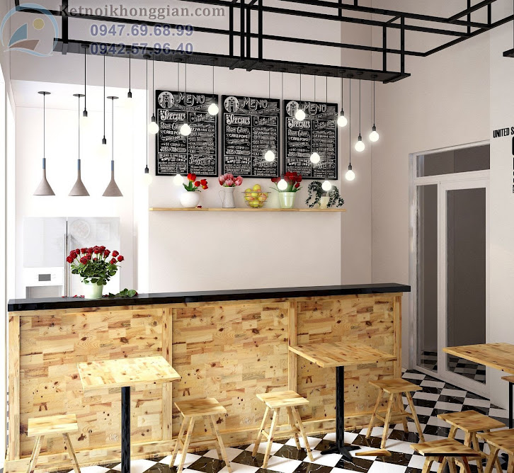 thiết kế cửa hàng cafe dành cho tuổi teen