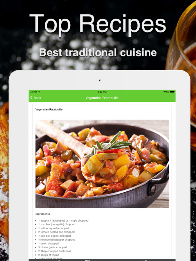 French cuisine cookbook android apps on google play for French cuisine 3 modules