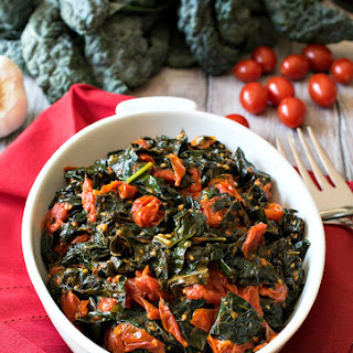 Tuscan Kale with Garlic Tomatoes Recipe