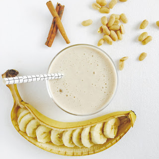 Banana, Peanut Butter & Cinnamon Smoothie.