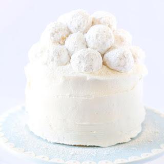 Vanilla Almond Snowball Cake