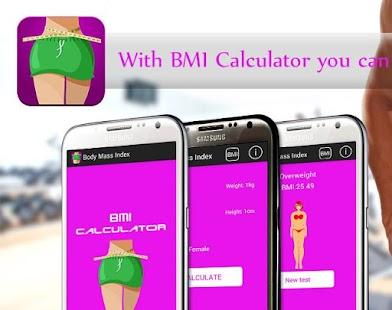 BMI ideal weight calculator screenshot