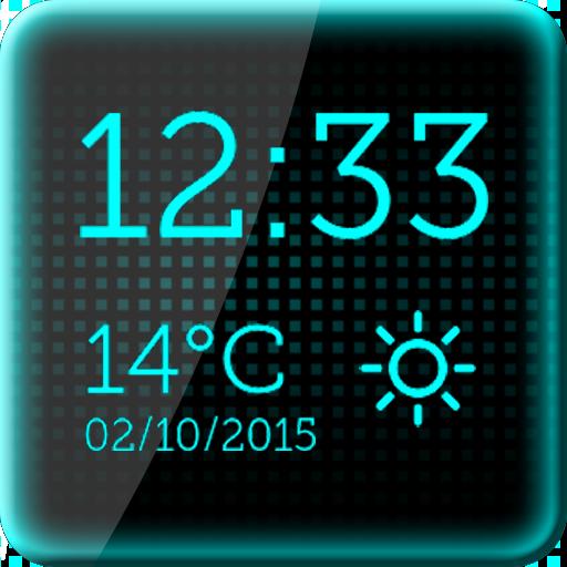 ブラック デジタル時計 個人化 App LOGO-硬是要APP