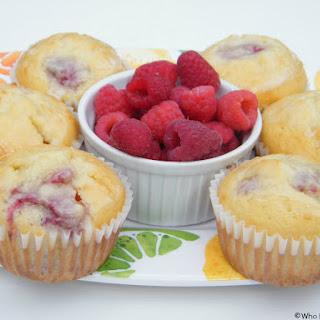Lemon-Glazed Raspberry Muffins.