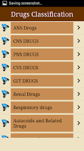 Drugs Classifications- screenshot thumbnail