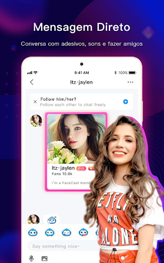 FaceCast-Faça novos amigos Screen Shot